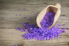 Salt bath purple Stock Image