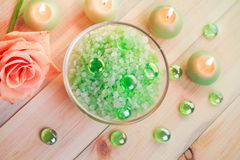 Salt bath wellness session Royalty Free Stock Photos