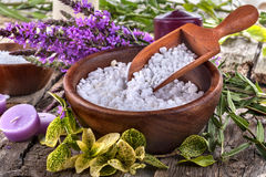 Salt bath Stock Photos
