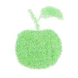 Salt for bathroom in the shape of a apple Royalty Free Stock Photography