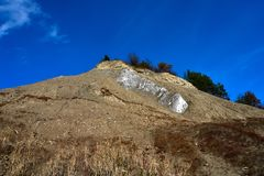 Salt berg i Praid, Harghita, Rumänien Royaltyfri Bild