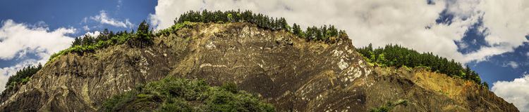 Salt berg - salthaltig platå Meledic, Rumänien Royaltyfri Fotografi