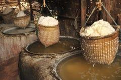 Salt bergigt i nordligt landskap av Nan, Thailand Royaltyfri Foto