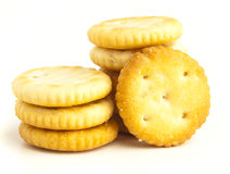 Salt biscuit Royalty Free Stock Photos