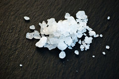 Salt on black Royalty Free Stock Image