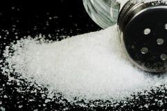 Salt on black background Royalty Free Stock Images