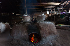 Salt boil. As classical from north of Thailand royalty free stock photography
