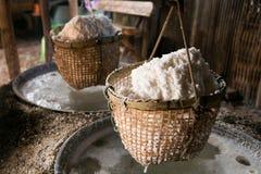 Salt boiling Stock Photo