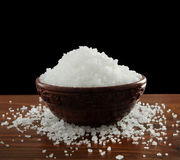 Salt in a bowl Stock Image