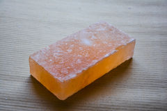 Salt Brick. Himalayan salt tiles & bricks are famous all over the world. These are crafted from rock salt from mines in Salt Range Mountain located near Stock Photography