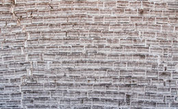 Salt brick wall. Wall made of salt bricks in the bolivia salt flats, South America Royalty Free Stock Photo