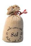 Salt in canvas bag Stock Photography