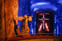 The Salt Cathderal of Zipaquira town, Colombia. The Salt Cathderal of Zipaquira town is famous turistic place in Colombia, near Bogota royalty free stock image