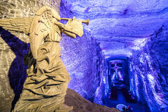 Salt Cathedral Angel. Angel inside the underground salt cathedral in Zipaquira, Cundinamarca in Colombia Stock Photography