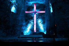 Salt cathedral in Zipaquira Colombia Royalty Free Stock Photo