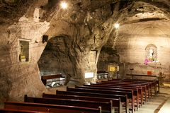 Salt cathedral in Zipaquira Colombia Stock Images