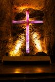 Salt cathedral in Zipaquira Colombia Royalty Free Stock Photos