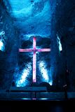 Salt cathedral in Zipaquira Colombia Royalty Free Stock Images