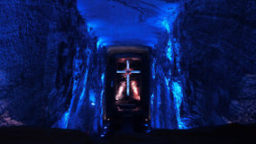The Salt Cathedral of Zipaquira is an underground Roman Catholic church built within the tunnels of a salt mine. Zipaquira, Cundinamarca / Colombia - January 19 Stock Image