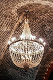 The salt cave chandelier Stock Photography