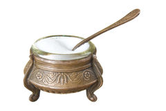 Salt cellar. Isolated on a white background Stock Photography