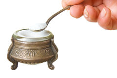 Salt cellar. Isolated on a white background Royalty Free Stock Images