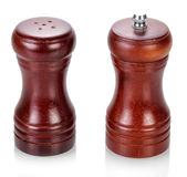 Salt cellar and pepper shaker Stock Photos