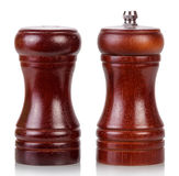 Salt cellar and pepper shaker Royalty Free Stock Photos