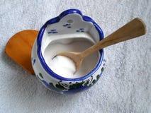 Salt cellar of porcelain Royalty Free Stock Images