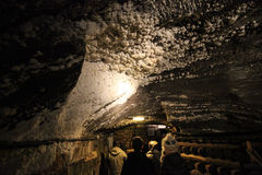 Salt on the celling in Wieliczka Salt Mine Stock Photos