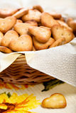 Salt cheese crackers Royalty Free Stock Photos