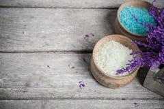 Salt closeup för SPA bad Royaltyfri Foto