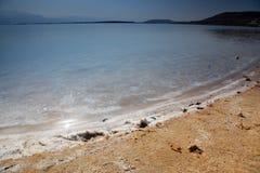 Salt at coast in Dead Sea, Israel Stock Image