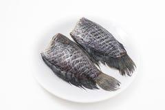 Salt cod fish isolated Stock Photo