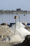 Salt collecting industry Stock Images