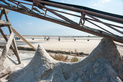 Salt conveyor in Pomorie Stock Photography