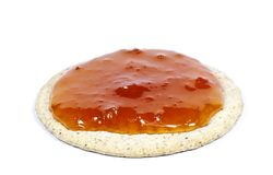 Salt cookie with jam on top Stock Image