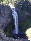 Salt Creek Falls in Oregon. Salt Creek Falls, a massive waterfall in Oregon set against basalt royalty free stock photo