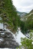 Salt Creek Near Waterfall in Oregon stock images