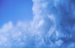 Salt cristal för makro arkivfoto