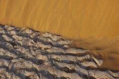 A salt crust. On desert sands Royalty Free Stock Photos