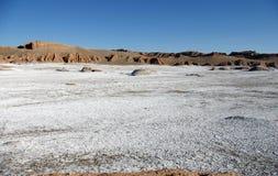 Salt crust in Atacama Desert, Chile. Salt crust in Valle de la Luna - Atacama Desert, Chile Royalty Free Stock Photos