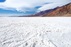 Salt crust in Badwater Basin, Death Valley, California Stock Image