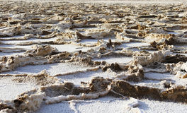 Salt crust, Badwater Bassin Stock Image