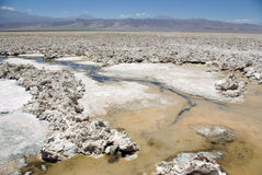 Salt crust in Salar de Atacama Royalty Free Stock Photo