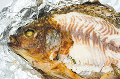 Salt Crusted Grilled Fish Royalty Free Stock Photography