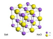 salt crystal isolerad modell för galler 3d Arkivfoton