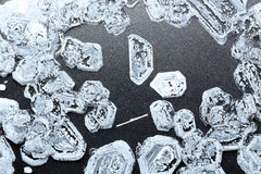 Salt crystals background Royalty Free Stock Photography