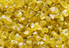 Salt Crystals Background, Yellow Crystallized Salts Stone Royalty Free Stock Images