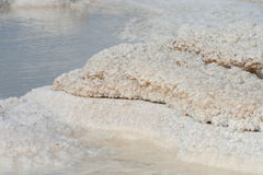 Salt crystals in the dead sea Stock Photo